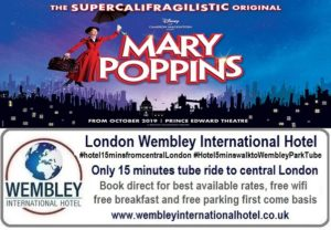 Mary Poppins on stage in London 2019-20