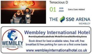 Extra date Tenacious D 01 June 2019 Wembley