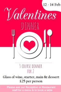 Valentines dinners at Wembley International Hotel