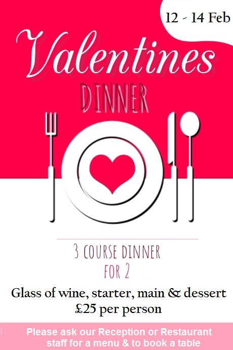 Valentines dinners at Wembley International Hotel