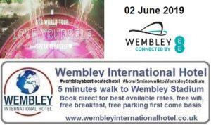 BTS Wembley Stadium 02 June 2019