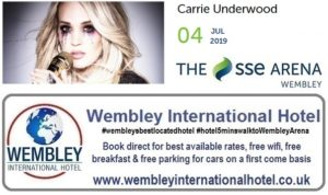 Wembley Arena Carrie Underwood July 2019