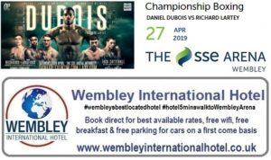 Dubois v Lartey Championship Boxing Wembley Arena April 2019