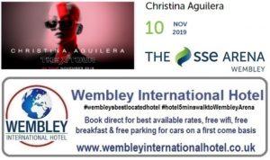 Wembley Arena Christina Aguilera 10 Nov 2019