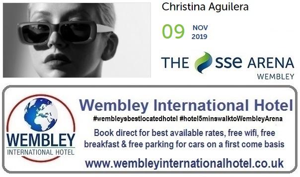 Nov 2019 Christina Aguilera Wembley Arena