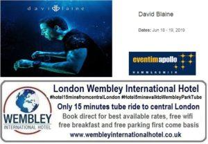 David Blaine Eventin Apollo London June 2019