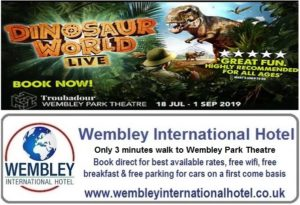 Wembley Theatre Dinosaurs Live 2019