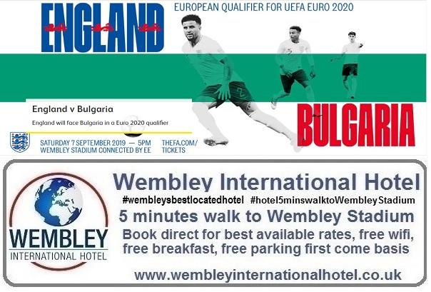 Wembley Stadium England v Bulgaria 2019
