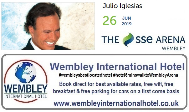 Wembley June 2019 Julio Inglesias
