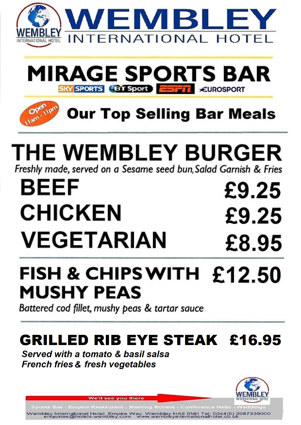 WEMBLEY MIRAGE SPORTS BAR