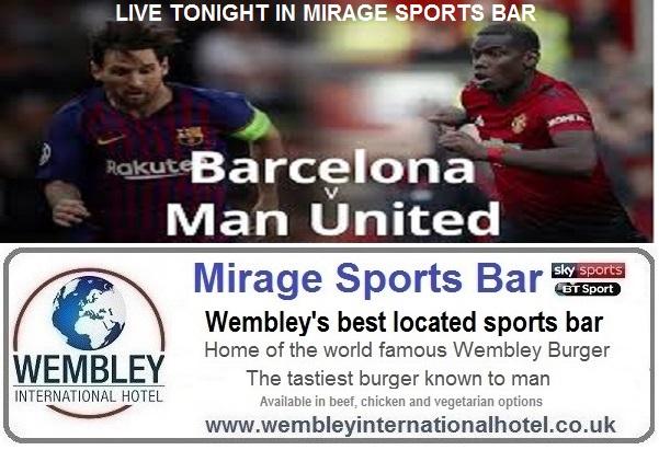 Barcelona v Manchester United live Mirage Sports Bar