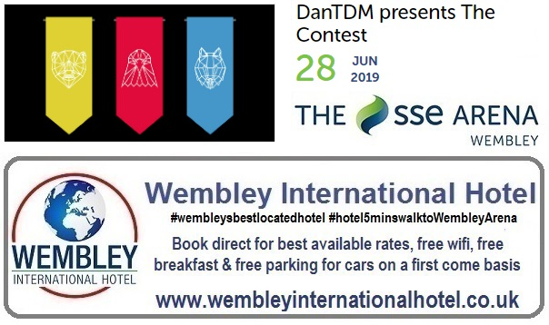DanTDM Wembley Arena June 2019