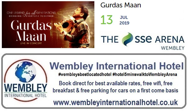 Wembley Arena Gurdas Maan 13 July 2019