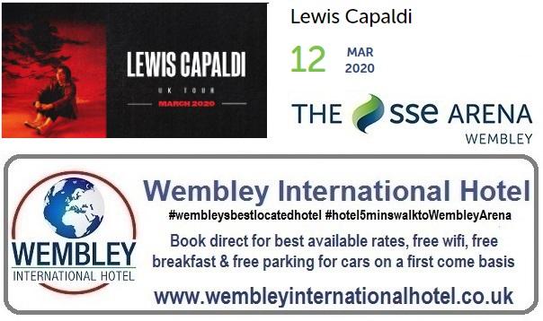 Wembley Arena Lewis Capaldi