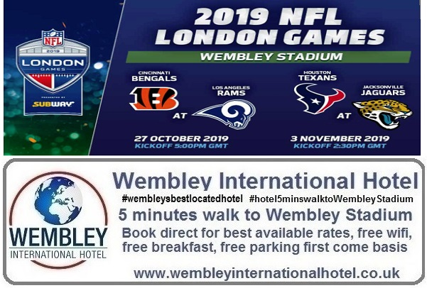 NFL at Wembley Stadium Bengals v Rams 27 Oct 19