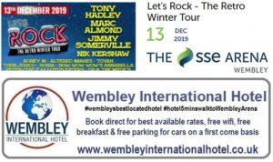 Wembley Arena Retro Rock Dec 2019