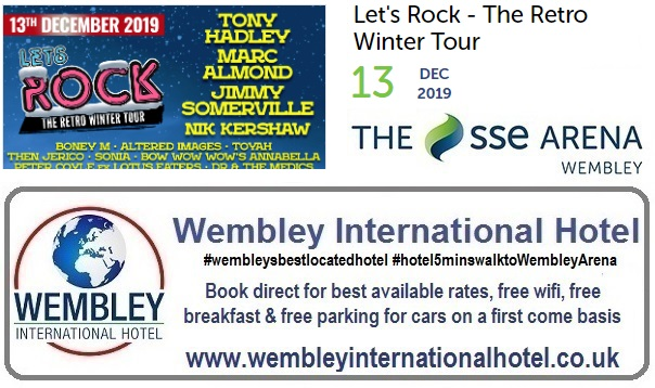 Wembley Arena Retro Rock Dec 2019