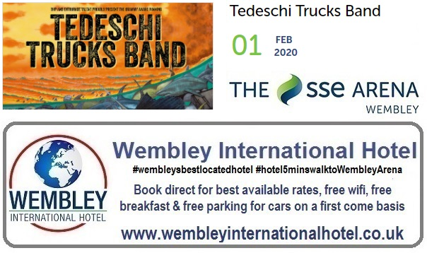 Wembley Arena Tedeschi Trucks Band Feb 2020