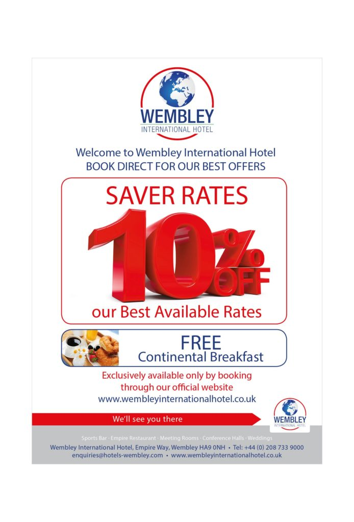 10% discount of best available rates