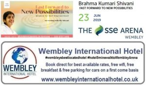 Wembley Arena June 2019 Brahma Kumari Shivani