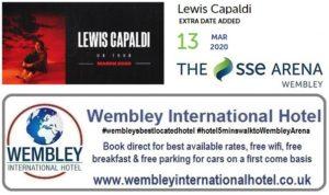 Extra date Lewis Capaldi Wembley 2020