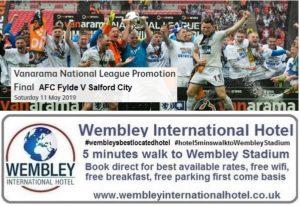 AFC Fylde v Salford City Wembley Stadium