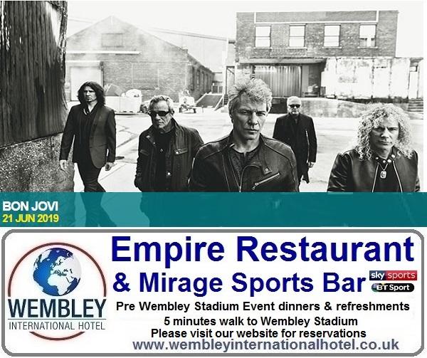 Pre Wembley Stadium event dinners