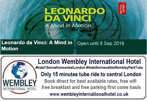 Leonardo Da Vinci at the British Library until Sep 2019
