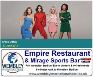 Spice Girls pre Event Dinners