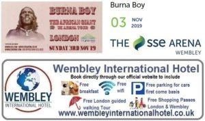 Wembley Arena Burna Boy 2019
