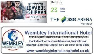 Wembley Arena 23 Nov 2019 Bellator