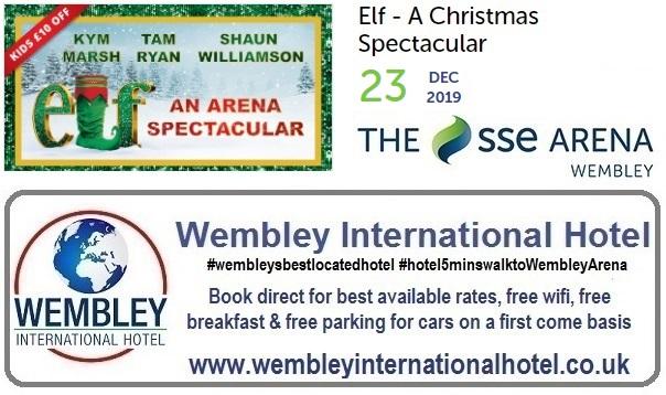 Wembley Arena Elf Christmas Spectacular 23 Dec 2019