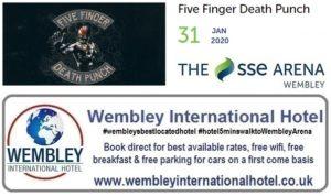 Wembley Arena Five Finger Death Punch Wembley Arena Jan 2020