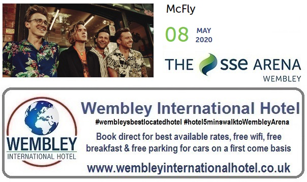 The SSE Arena, Wembley McFly May 2020
