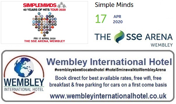 Wembley Arena April 2020 Simple Minds