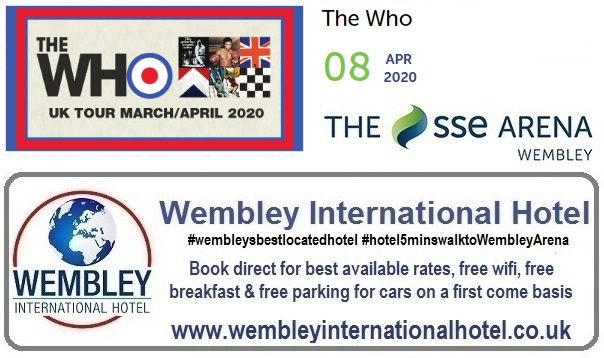 Wembley Arena The Who April 2020