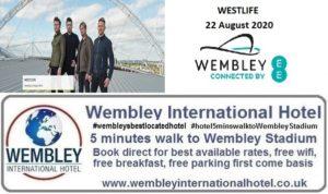 Wembley Stadium Aug 2020 Westlife