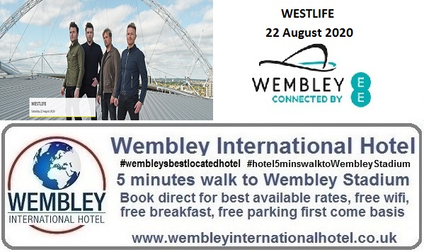 Wembley Stadium Aug 2020 Westlife