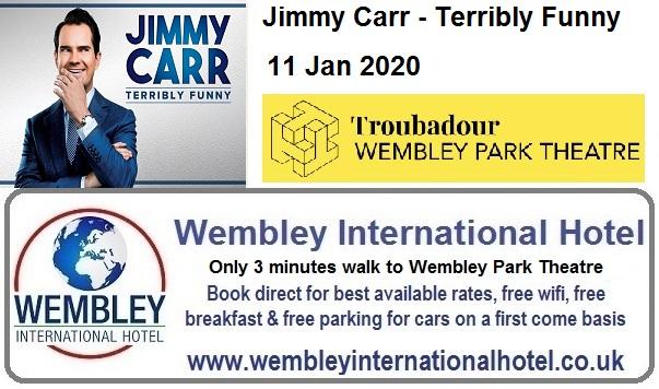 Wembley Theatre Jan 2020 Jimmy Carr