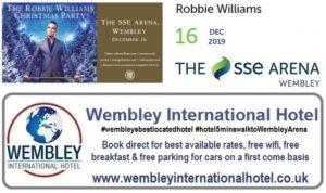 Wembley Arena 16 Dec 2019 Robbie Williams