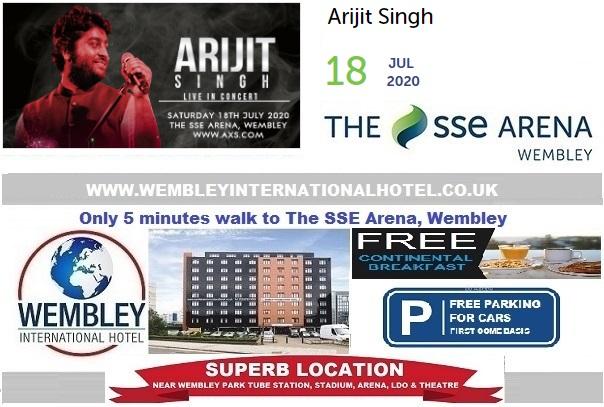 Wembley Arena July 2020 Arjit Singh