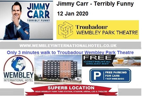 Wembley Park Theatre Jimmy Carr Jan 2020