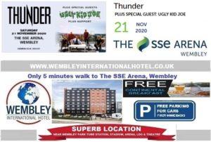 Wembley Arena Nov 2020 Thunder and Ugly Kid Joe