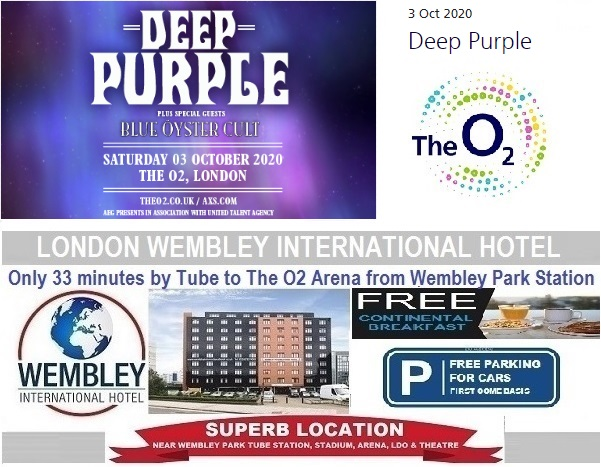 O2 Arena London Oct 2020 Deep Purple