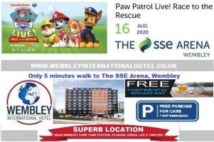Wembley Arena Paw Patrol 16 Aug 2020