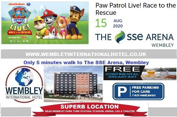 Wembley Arena Paw Patrol 15 Aug 2020