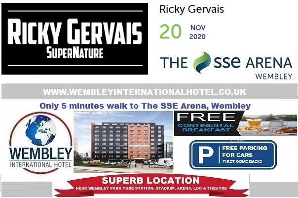 Wembley Arena Nov 2020 Rick Gervais