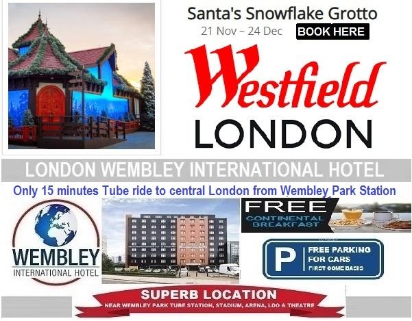London Westfield Shopping Centre Santa's Snowflake Grotto