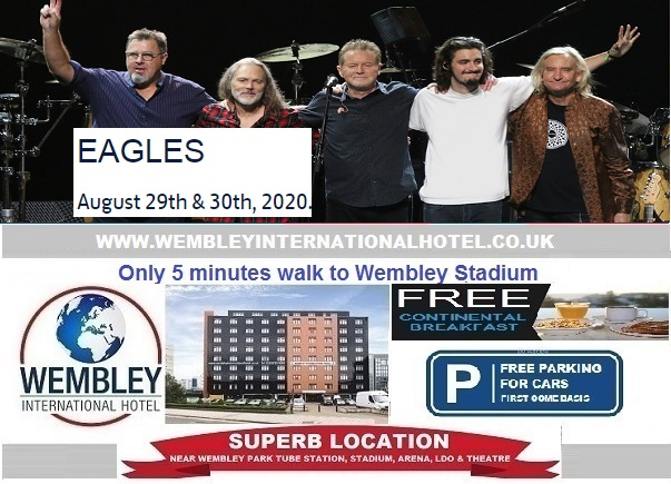 Wembley Stadium Aug 2020 The Eagles