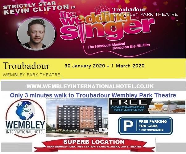 Wembley Park Theatre The Wedding Singer Jan - March 2020